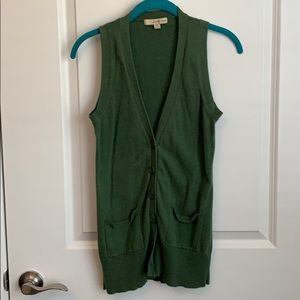 Green Sweater Vest from Forever 21